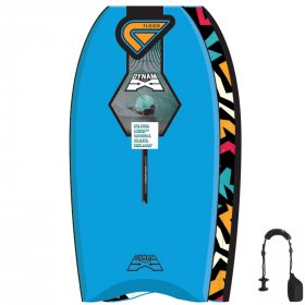 FLOOD Bodyboard Dynamx Stringer 41 Blau Tribal