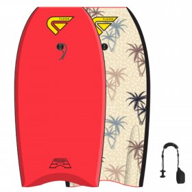 FLOOD Bodyboard Dynamx Stringer 42 Rot Palm